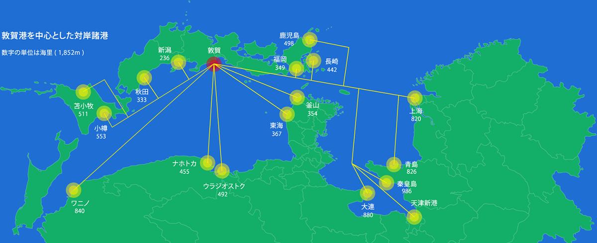 敦賀港を中心とした対岸諸港