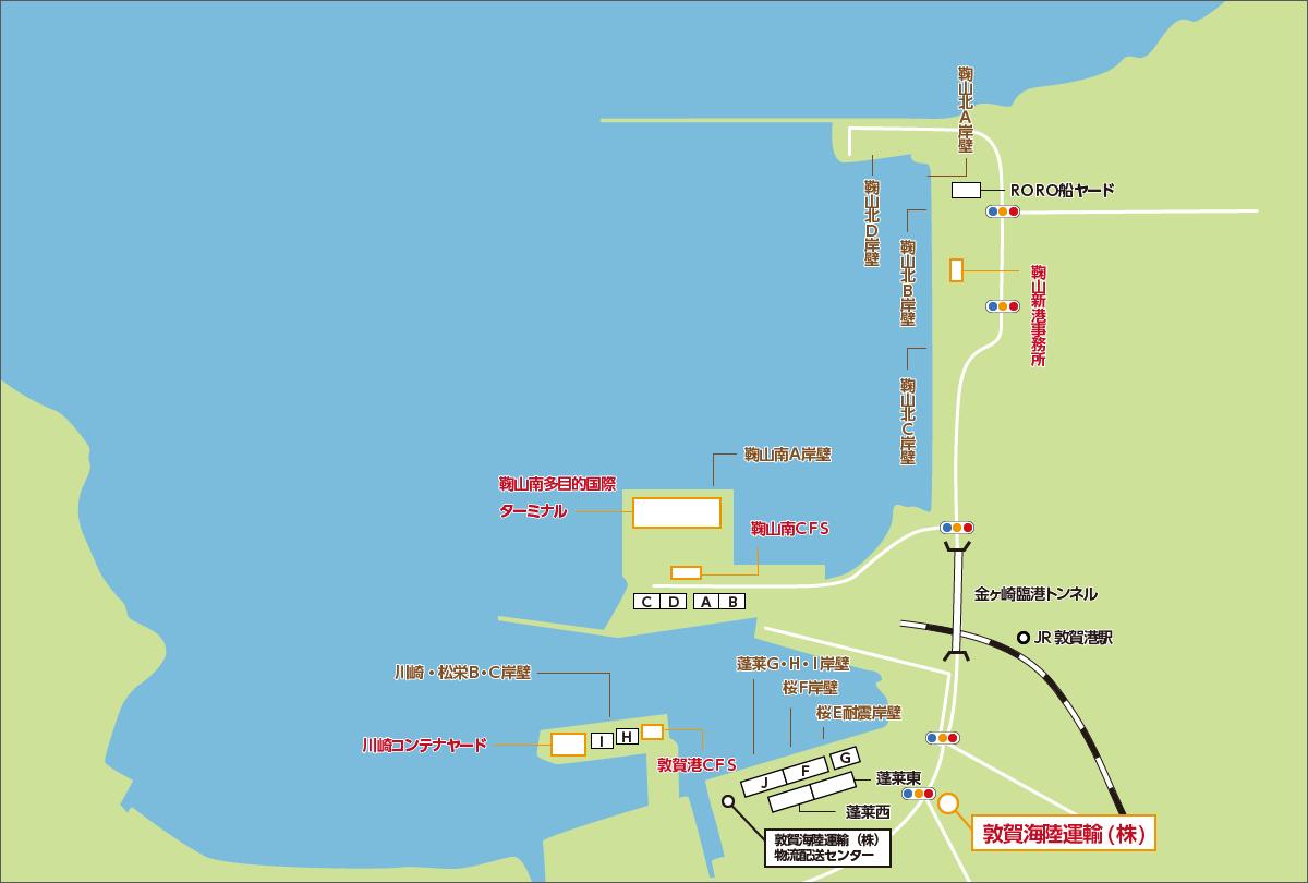 敦賀港マップ