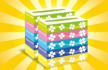 ティッシュ5箱